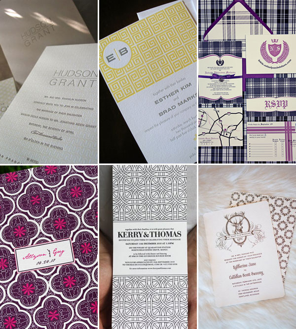 Pattern Wedding Invitations