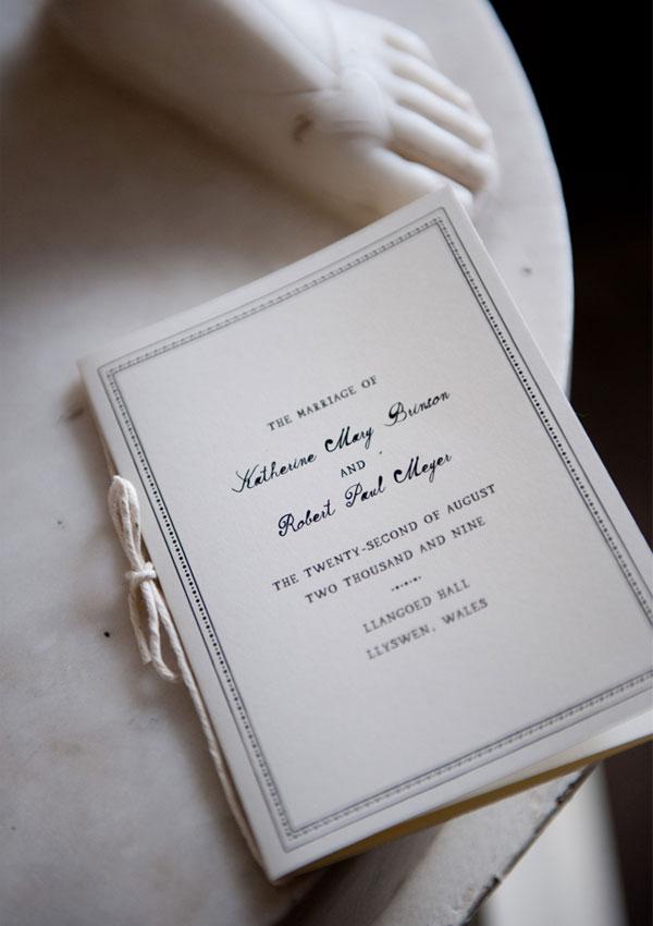 Black & White Invitations for a Wales Wedding - Invitation Crush