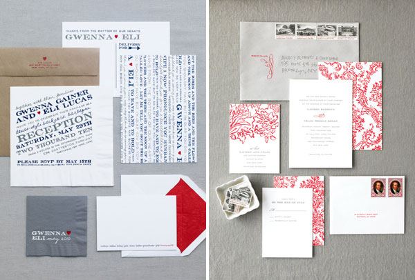 Ditto Paper BBQ and French Inspired Wedding Invitations
