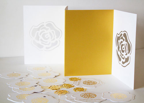 Laser Cut Wedding Invitations Natoof Design also created coordinating