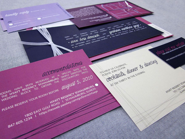 Modern Purple Wedding Invitations Julie Hanan