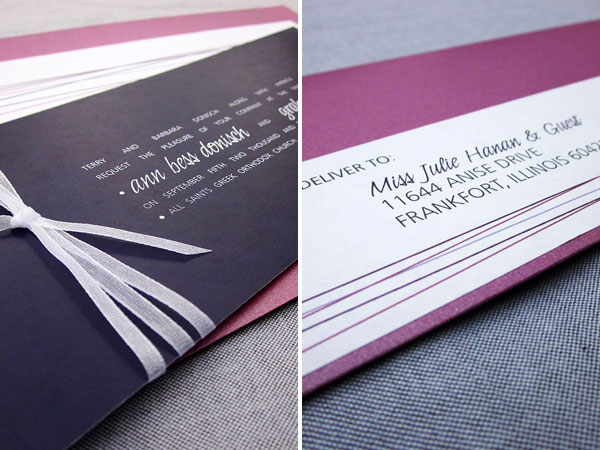 Julie Hanan Design Wedding Invitations