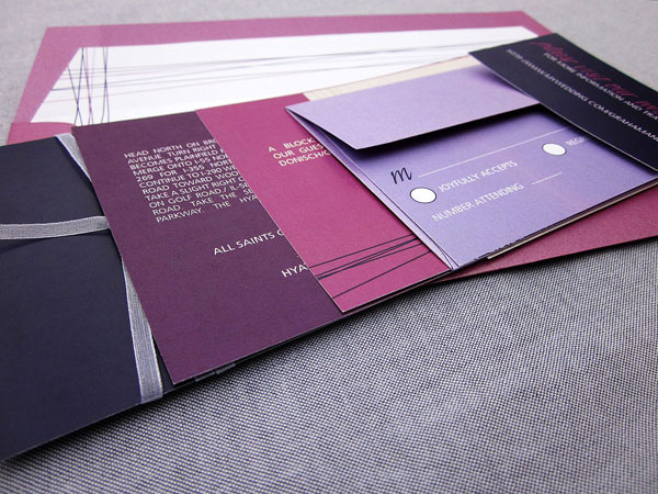 Purple Wedding Invitation Cards