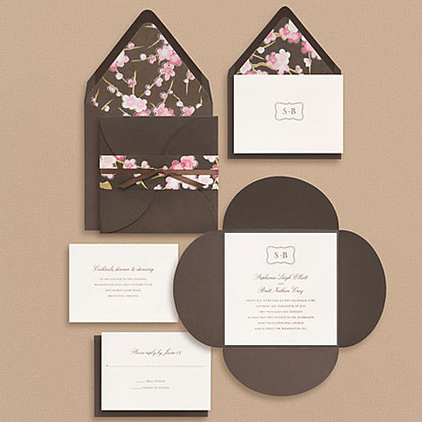 Bracket monogram wedding invitations invitation crush paper source bracket monogram wedding invitations stopboris Image collections