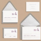 Paper Source Didot Monogram Wedding Invitations
