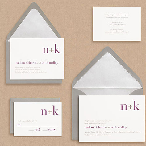 Didot Monogram Wedding Invitations Invitation Crush