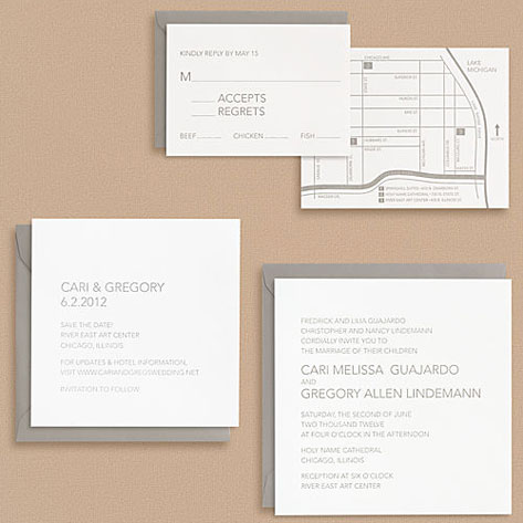 Paper Source Modern Type Wedding Invitations