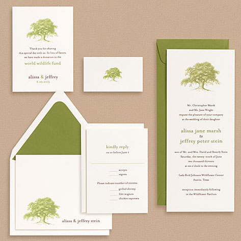 Oak Tree Wedding Invitations is an amazing ideas you had to choose for invitation design