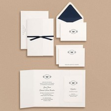 Paper Source Oval Monogram Wedding Invitations