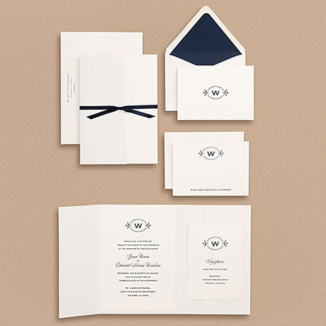 Oval Monogram Wedding Invitations Invitation Crush