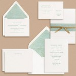 Paper Source Sans Serif Type Wedding Invitations