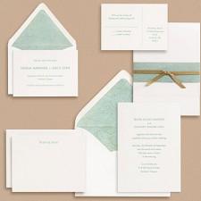 Paper Source Sans Serif Type Wedding Invitations