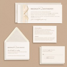 Paper Source Serif with Script Wedding Invitations