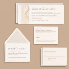 Paper Source Serif with Script Wedding Invitations