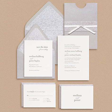 paper source serif type wedding invitations - Paper For Wedding Invitations