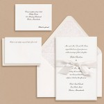 Paper Source Traditional Script Wedding Invitations