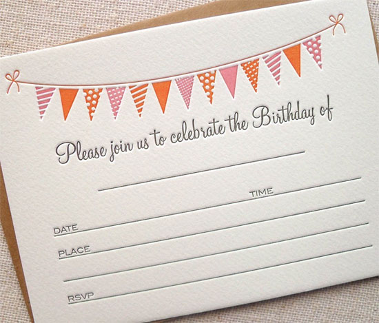 Fill In Birthday Party Invites