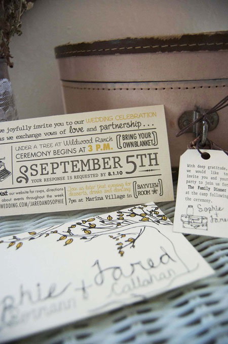 Whimsical Vintage Inspired Wedding Invitations