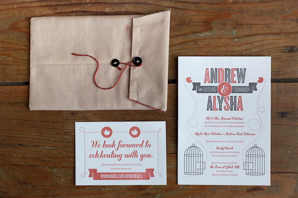 Andrew + Alysha's Mid-Century Modern Invitations