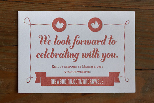 Letterpress Wedding Card