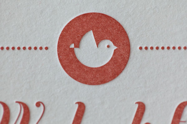 Letterpress Bird Graphic