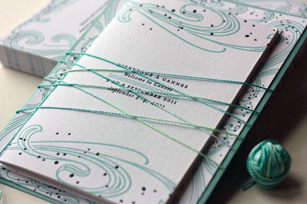 Art Nouveau Booklet Invitations