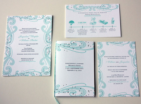 Paisley Quill Custom Wedding Invitations