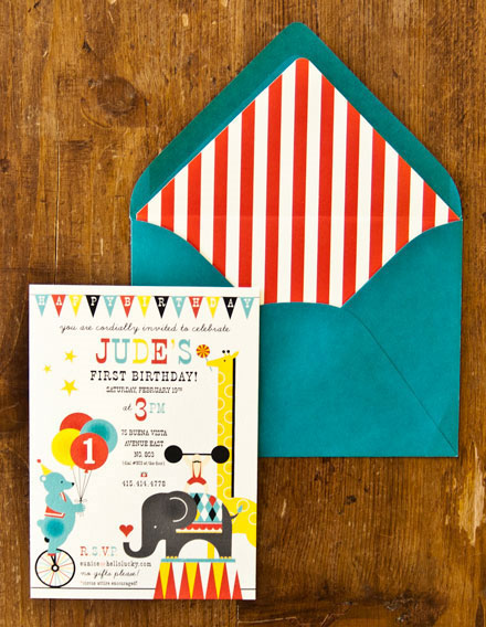 Circus Birthday Invites