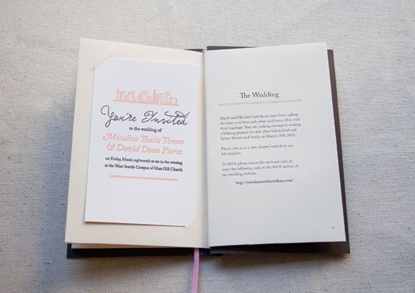 Brilliant insertion of the wedding invitation card at