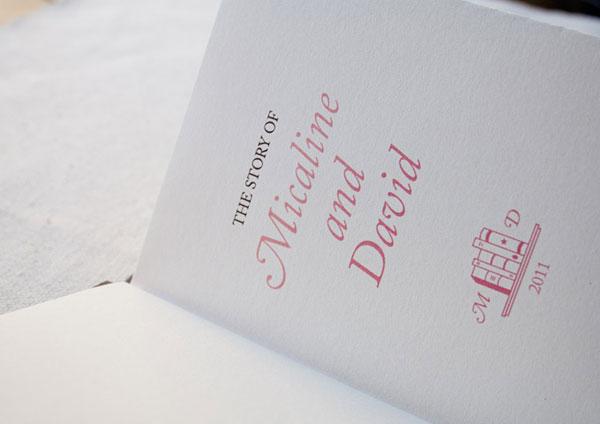 Micaline & David's Wedding Invites