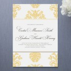 Float Brocade Wedding Invitations