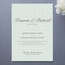 Float Established Wedding Invitations