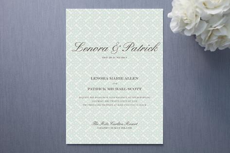 Float Established Wedding Invitations