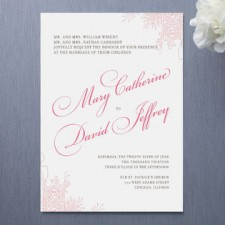 Float Amour Wedding Invitations