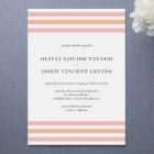 Float Sweetie Stripe Wedding Invitations