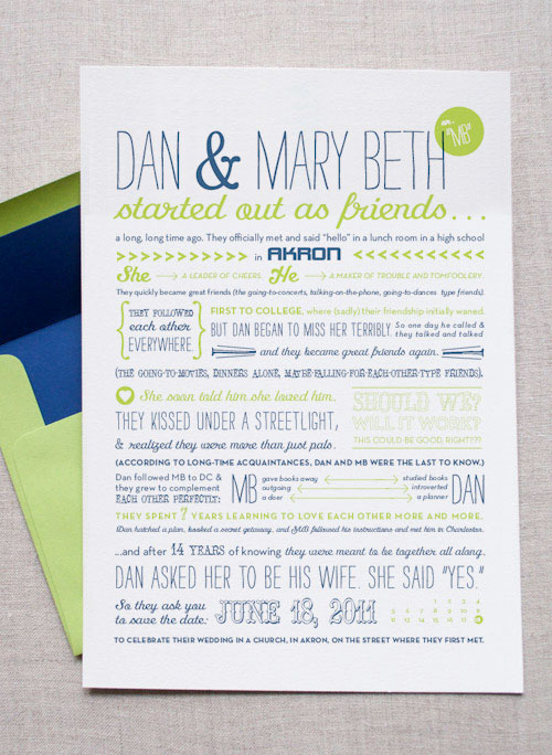 Fold In Storybook Screen Printed Save the Dates