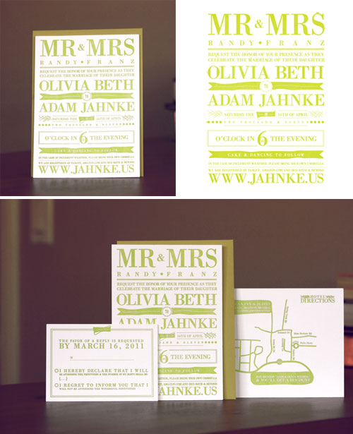 Lime Green Wedding Invites Skylar Hartman