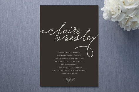 Love Letter Wedding Invitations - Invitation Crush