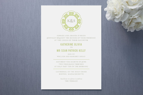 modern celtic knot wedding invitations - invitation crush,
