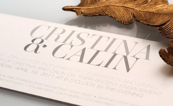 Cristina Calin Engagement Invitations