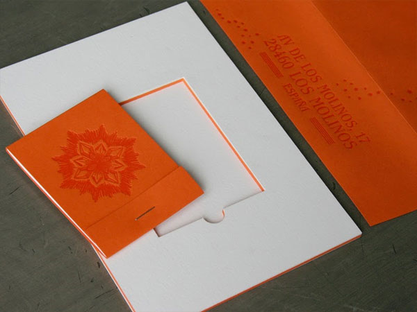 Letterpress Matchbook Wedding Invitations