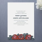 Rose Chic Wedding Invitations