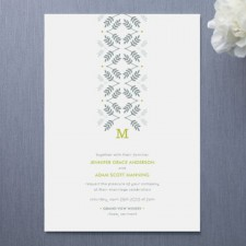 Silver Leaf Wedding Invitations