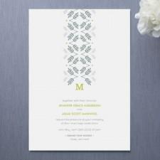 Silver Leaf Wedding Invitations