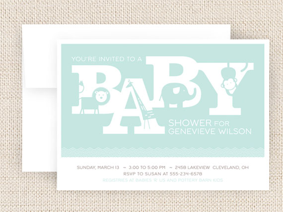 Baby Shower Invites by Two Pooch Paperie