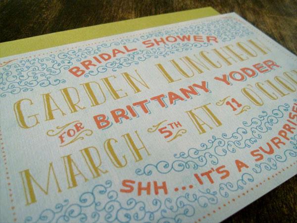 Mary Kate McDevitt Custom Invitations