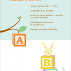 Alphabet Blocks Baby Shower Invitations