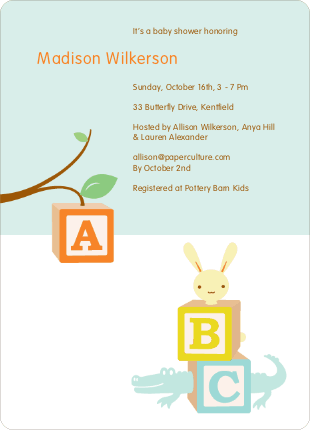 Alphabet blocks baby shower invitations invitation crush alphabet blocks baby shower invitations filmwisefo