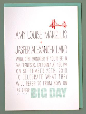 Big Day Wedding Invitations Invitation Crush