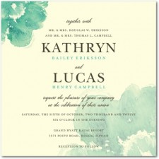 Blooming Watercolor Wedding Invitations